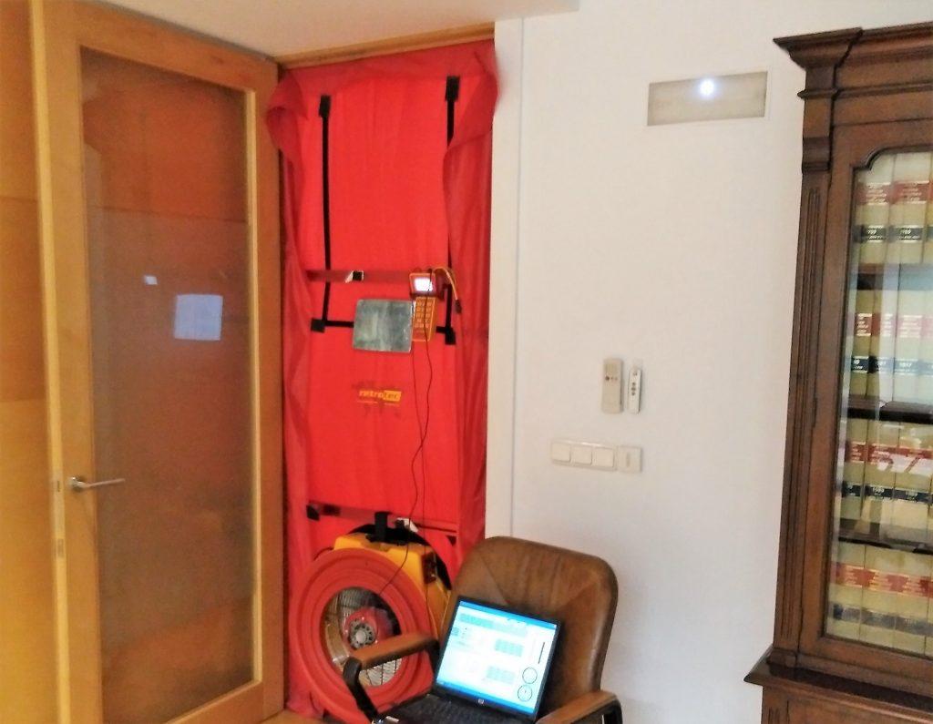 Equipo blower door