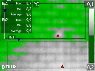 termografía zonas con humedades