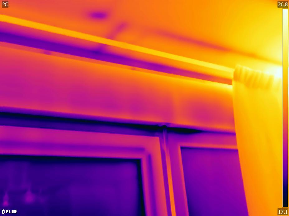 TERMOGRAFIA Infiltraciones de aire en ventana
